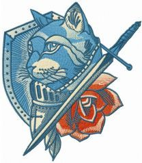 Honored knight cat