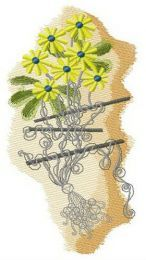 Hooked kite embroidery design