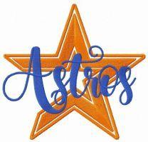 Houston Astros logo alternative embroidery design