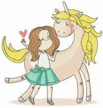 I love unicorn embroidery design