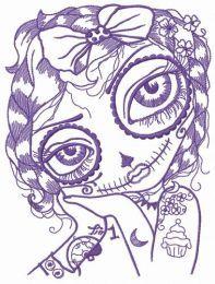 I'm sad and I love tattoos embroidery design