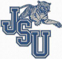 Jackson State University logo machine embroidery design