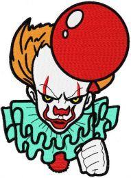 Joker with balloon embroidery design
