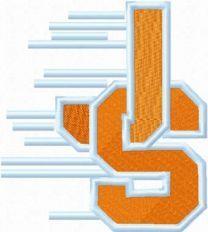 Jurupa steelers football logo machine embroidery design