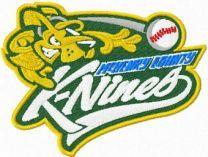 K-Nines Baseball logo machine embroidery design