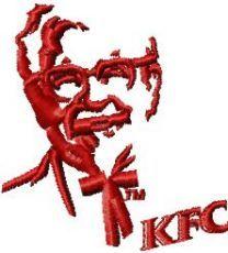 KFC small logo machine embroidery design