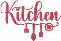 Kitchen love embroidery design
