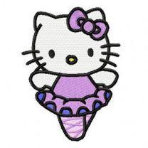 Hello Kitty Ballerina embroidery design