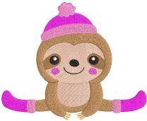 Koala autumn sport embroidery design