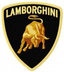 Lamborghini logo machine embroidery design