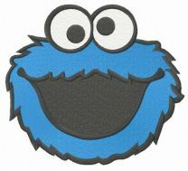 Laughing Cookie Monster embroidery design