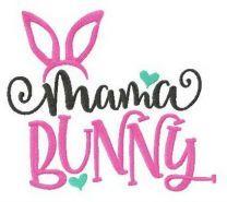 Mama bunny embroidery design