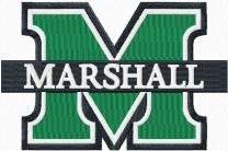 Marshall University logo embroidery design
