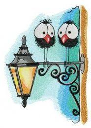 Meeting on lantern embroidery design