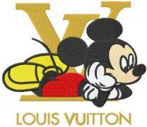 Mickey louis vuitton embroidery design