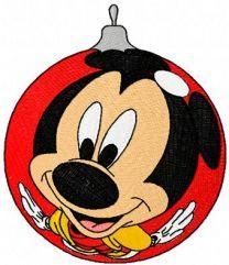 Mickey Mouse Christmas Ball embroidery design