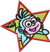 Monkey embroidery design 2