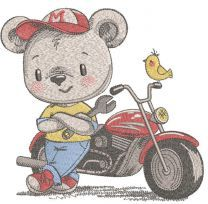 My new motorcycle embroidery design