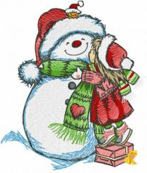My snowman is the best embroidery design