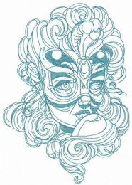 Mysterious stranger embroidery design 4