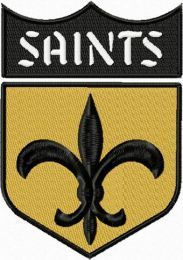 New Orleans Saints machine embroidery design