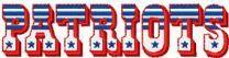 New England Patriots alternative logo machine embroidery design
