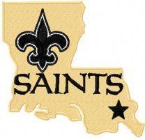 New Orleans Saints logo 3 machine embroidery design