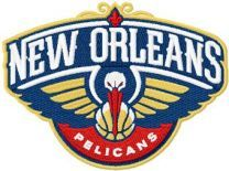 New Orleans Pelicans logo machine embroidery design