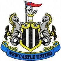 Newcastle United Football Club logo embroidery design