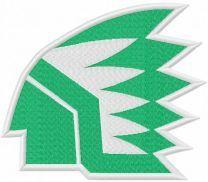 North Dakota fighting hawks old logo embroidery design