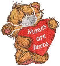 Nurses are heros embroidery design