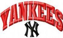 New York Yankees logo embroidery design 3