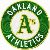 Oakland Athletics Logo machine embroidery design