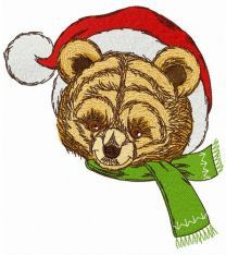 Old teddy toy embroidery design
