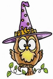 Owl in witch hat 5