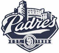 San Diego Padres baseball club machine embroidery design
