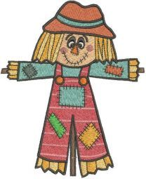 Patchwork scarecrow embroidery design
