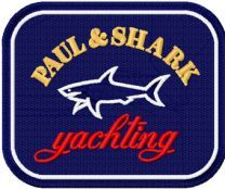 Paul & Shark logo machine embroidery design