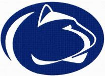 Penn State Nittany Lions logo machine embroidery design