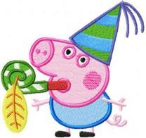 Peppa Pig Carnival embroidery design