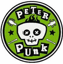 Peter Punk logo machine embroidery design