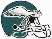Philadelphia Eagles helmet machine embroidery design