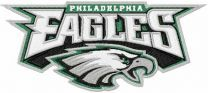 Philadelphia Eagles logo 2 machine embroidery design