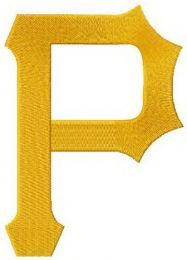 Pittsburgh Pirates primary logo 2014 embroidery design