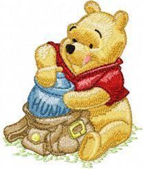 Winnie Pooh with bag