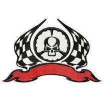 Tribal racing for auto sport uniform machine embroidery design