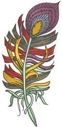 Rainbow feather 2