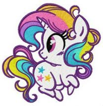Rainbow stars embroidery design