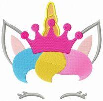 Royal unicorn hiding embroidery design