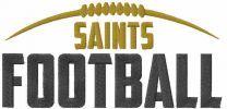 Saints football logo embroidery design